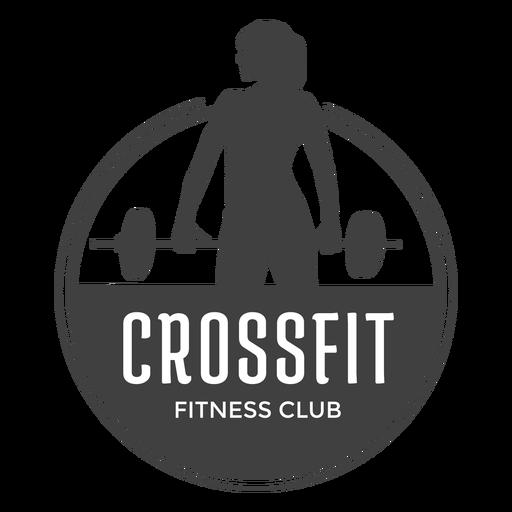 Logotipo do clube de fitness Crossfit Transparent PNG