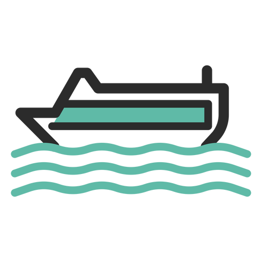 Cruise ship colored stroke icon Transparent PNG