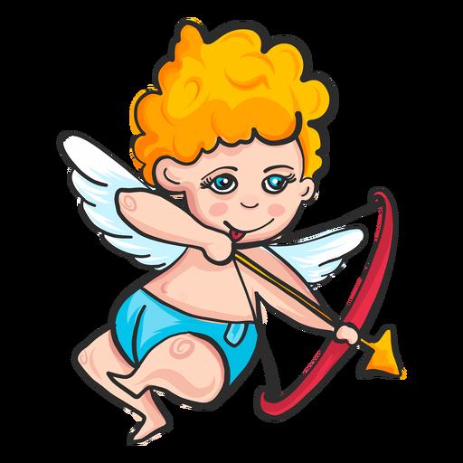 Cupid shooting arrow cartoon Transparent PNG