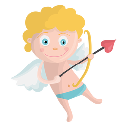 Cupid shooting illustration
