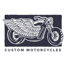 Kundenspezifisches Motorradlogo