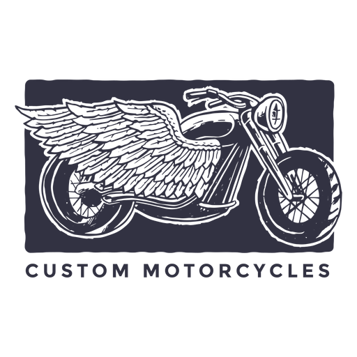Custom motorcycles logo Transparent PNG