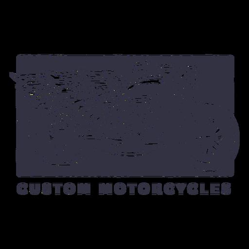 Logotipo de motos personalizadas Transparent PNG