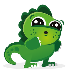 Niedliche Baby-Dino-Zeichentrickfigur