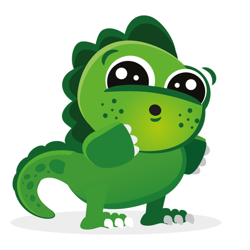 Cute baby dino character cartoon Transparent PNG
