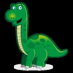 Dibujos animados lindo personaje de dinosaurio