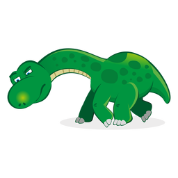 Dino-Figur nach Spurenkarikatur