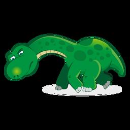 Personagem de Dino seguindo o desenho de rastreamento