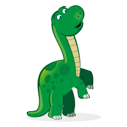 Dino character rearing cartoon
