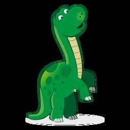 Dino-Charakter, der Karikatur aufzieht