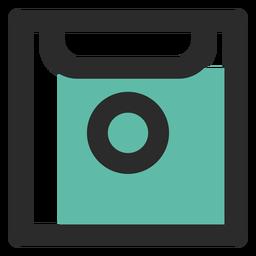Ícone de traço colorido de disquete