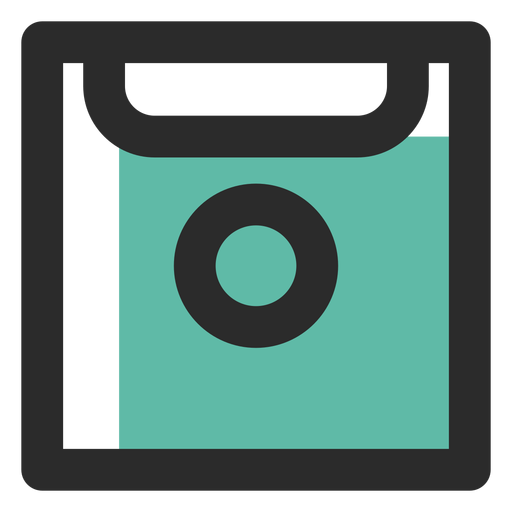 Ícone de traço colorido de disquete Transparent PNG