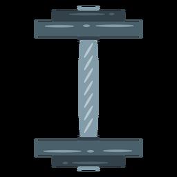 Icono de vista superior con mancuernas