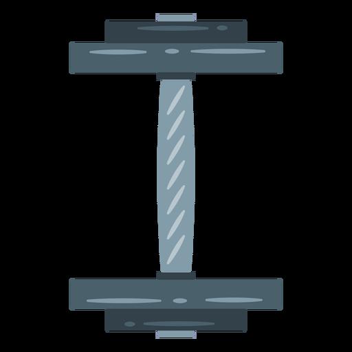 Ícone de vista superior do haltere Transparent PNG