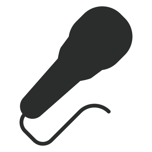 Icono plano de micrófono dinámico Transparent PNG