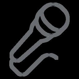 Icono de trazo dinámico del micrófono