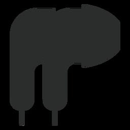Ícone plana de fones de ouvido