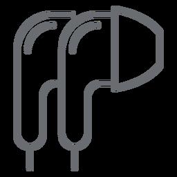Ícone de traçado de fones de ouvido