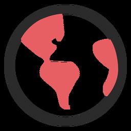 Icono de trazo de color globo terráqueo