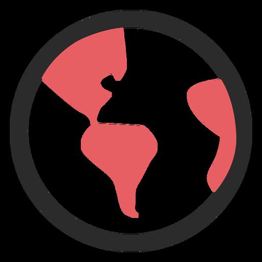 Erdkugel farbige Strich-Symbol Transparent PNG