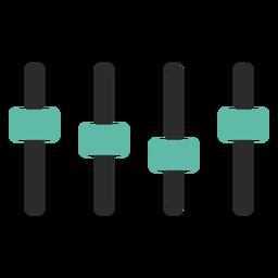 Ecualizador icono de trazo de color