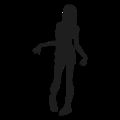 Silueta de mujer zombie