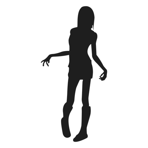 Weibliche Zombie-Silhouette Transparent PNG