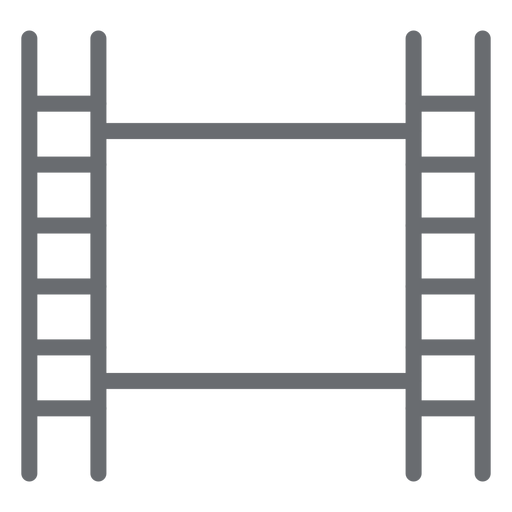 Film tape stroke icon Transparent PNG