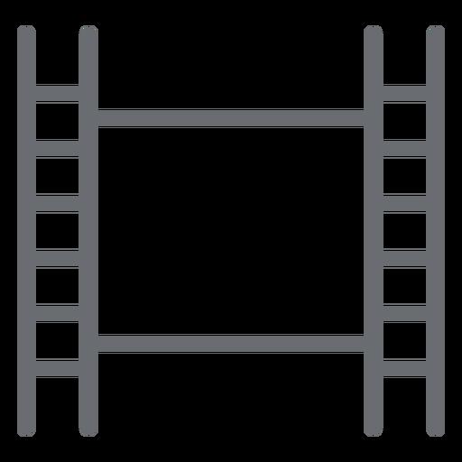 Icono de trazo de cinta de película Transparent PNG