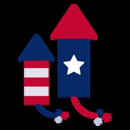 Elemento de design de foguetes de fogos de artifício