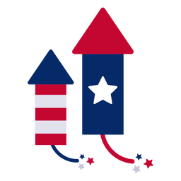 Elemento de diseño de cohetes de fuegos artificiales.