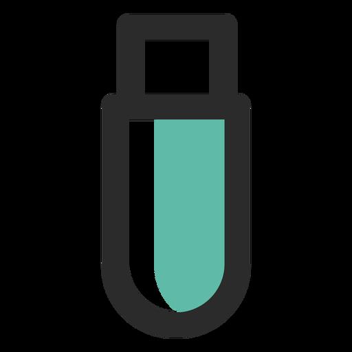 Ícone de traço colorido de unidade flash Transparent PNG