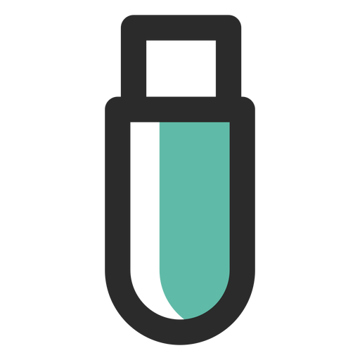 Flash drive colored stroke icon