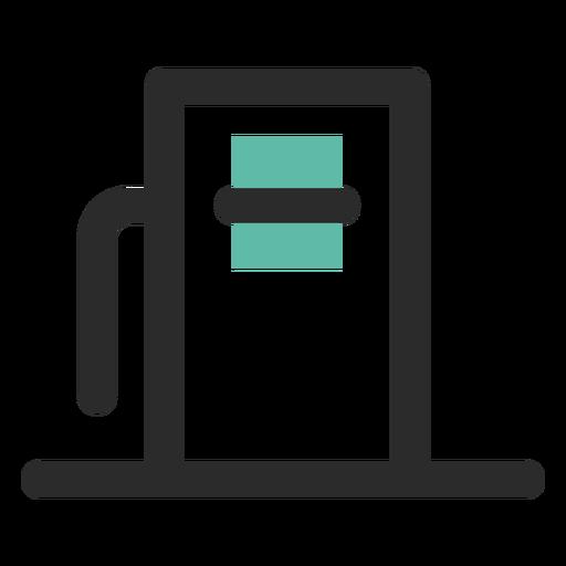 Ícone de traço colorido de dispensador de combustível Transparent PNG