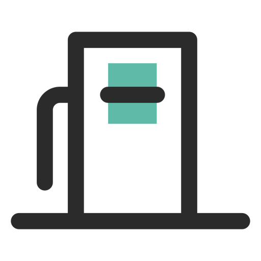 Fuel dispenser colored stroke icon Transparent PNG