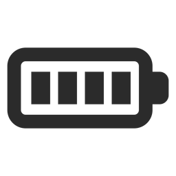 Full battery stroke icon