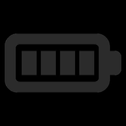 Ícone de traço completo da bateria Transparent PNG