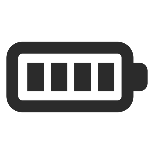 Full battery stroke icon Transparent PNG