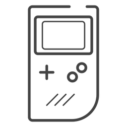 Game boy console stroke icon