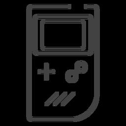 Icono de trazo de consola de Game Boy