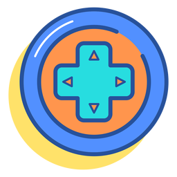 Gamepad icono de teclas de flecha