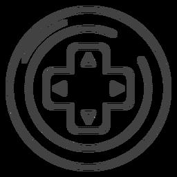 Ícone de traço de teclas de seta Gamepad