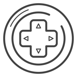 Icono de trazo de teclas de flecha de gamepad