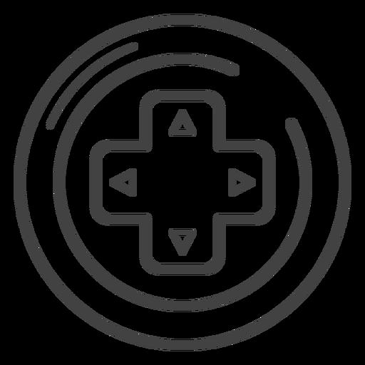 Ícone de traço de teclas de seta Gamepad Transparent PNG