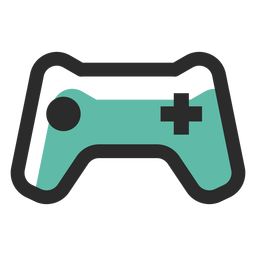Gamepad icono de trazo de color