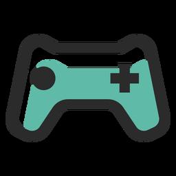 Icono de trazo de color de gamepad
