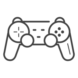 Gamepad-Strich-Symbol