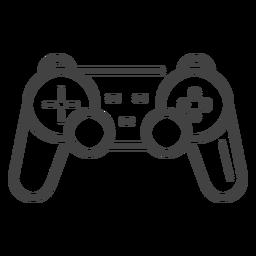 Icono de trazo de gamepad