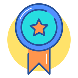 Icono de cinta de premio de juego