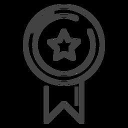 Premio de juego icono de trazo de cinta